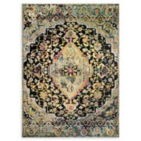 Home Dynamix Shabby Chic Fiesta 3'11 x 5'2 Area Rug in Dark Grey/Yellow/Pink/Blue