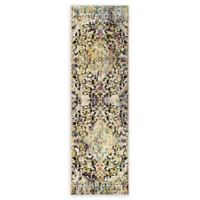 Home Dynamix Shabby Chic Fiesta 2'2 x 7'2 Runner Area Rug in Dark Grey/Yellow/Pink/Blue