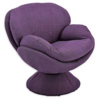 Mac Motion™ Foam Swivel Chair in Purple