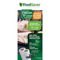 FoodSaver® 11-Inch x 16-Foot 2-Pack Vacuum Packaging Rolls