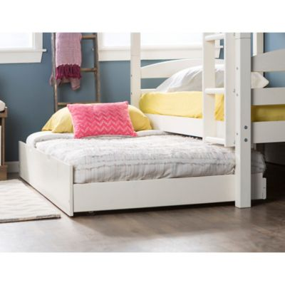 Forest Gate Charlotte Solid Wood Twin Trundle Bed In White