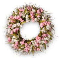 National Tree Company® 21-Inch Artificial Pink Tulip Wreath