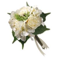 National Tree Company® Artificial Cream Rose & Peony Bundle