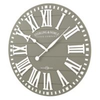 Sterling & Noble 29-Inch Rustic Wood Farmhouse Clock in Grey