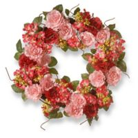 National Tree Company® 24-Inch Artificial Pink Rose Wreath