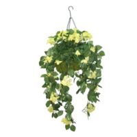 National Tree Company 14-Inch Artificial Bougainvillea Hanging Plant in Wire Basket
