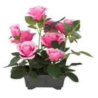 National Tree Company® Artificial Pink Rose Arrangement in Pot