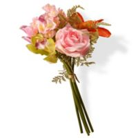 National Tree Company 14.5-Inch Artificial Mixed Blossom Bundle in Pink