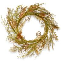 National Tree Company 22-Inch Artificial Spring Fern Wreath in Green