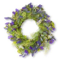 National Tree Company® 24-Inch Floral Artificial Wreath in Purple