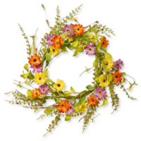 National Tree Company® 20-Inch Floral Artificial Wreath in Yellow/Orange