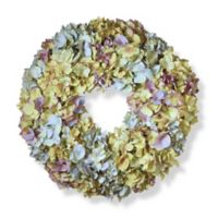 National Tree Company® 18-Inch Mixed Hydrangea Artificial Wreath in Blue