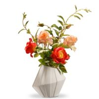 National Tree Company® 22-Inch Artificial Roses with Ceramic Vase