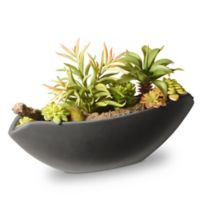 National Tree Company® 8.6-Inch Artificial Succulent with Grey Ceramic Pot