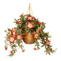 National Tree Company 13-Inch Artificial Flower Basket