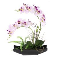 National Tree Company® Artificial Orchid Arrangement in Long Planter