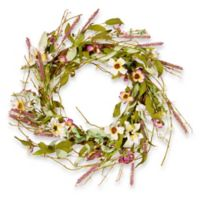 National Tree Company 22-Inch Assorted Spring Flowers Artificial Wreath
