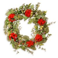 National Tree Company 32-Inch Spring Flower Artificial Wreath