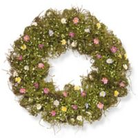 National Tree Company 19-Inch Spring Flower Artificial Wreath