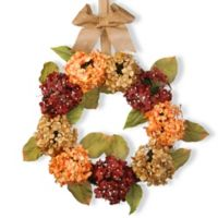 National Tree Company 24-Inch Mixed Hydrangea Artificial Wreath