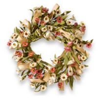 National Tree Company 22-Inch Small Sunflower Artificial Wreath