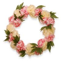 National Tree Company® 24-Inch Artificial Pink/White Peony Wreath
