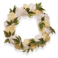 National Tree Company 24-Inch Peony Artificial Wreath