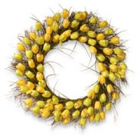 National Tree Company® 31-Inch Artificial Yellow Tulip Wreath