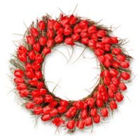National Tree Company® 31-Inch Artificial Red Tulip Wreath
