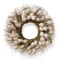 National Tree Company® 24-Inch Artificial White Tulip Wreath