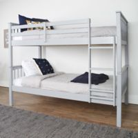 Walker Edison Twin Over Twin Mission Design Bunk Bed in Grey