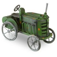 National Tree Company 14-Inch Metal Tractor Lawn Ornament in Green