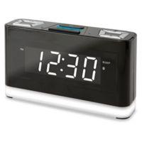 Wireless Voice Activated Alarm Clock with Alexa in Black