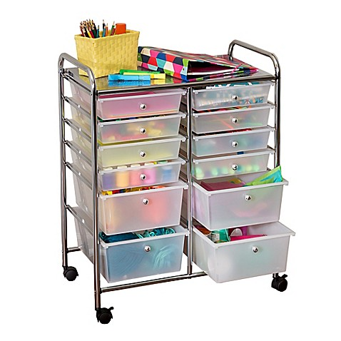 Honey Can Do 174 Studio Organizer Cart With Drawers Bed
