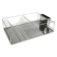 Home Basics Dish Drying Rack In Silver