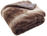 Faux Luxe Brick Fur Throw Blanket in Chocolate