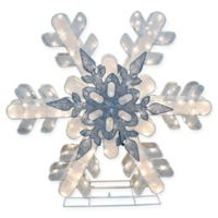 Puleo International 48-Inch Lighted Snowflake Yard Art
