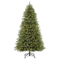 Puleo International Elegant Series 7.5-Foot Fraser Fir Pre-Lit Artificial Christmas Tree