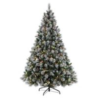 Puleo International 7.5-Foot Pre-Lit Fiber Optic Winter Wonderland Christmas Tree