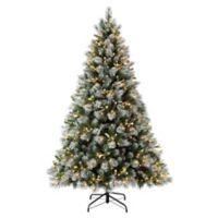 Puleo International 4.5-Foot Pre-Lit Winter Wonderland Christmas Tree