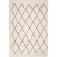 Surya Rhapsody 5' x 8' Shag Area Rug in Cream/Taupe