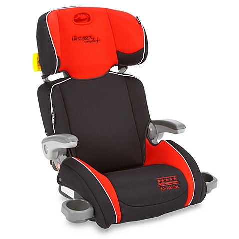 buy the first years by tomy compass b505 booster car seat in elegance black red from bed bath. Black Bedroom Furniture Sets. Home Design Ideas