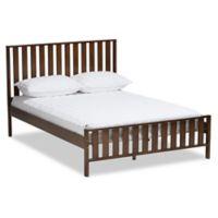 Baxton Studio Harlan Full Platform Bed in Walnut