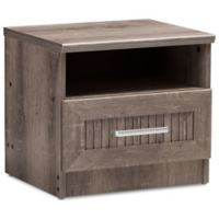 Baxton Studio Gallia 1-Drawer Nightstand in Oak