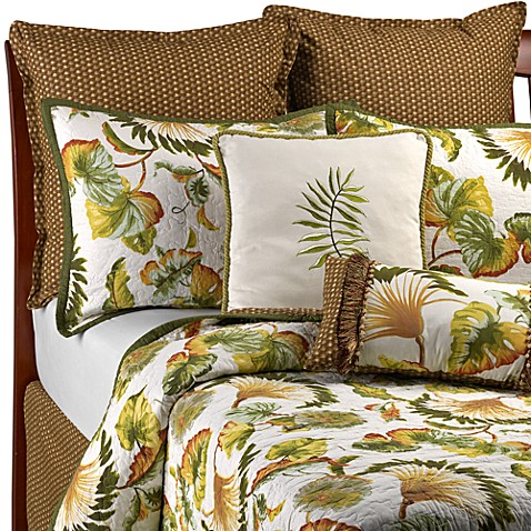 Fan Foliage Twin Quilt