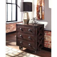 3-Drawer Accent Cabinet in Dark Brown