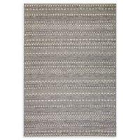 Dynamic Rugs Brighton Dornoch Indoor/Outdoor 5'3 x 7'7 Area Rug in Light Grey