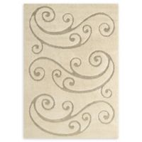 Modway Sprout Scrolling Vine 5' x 8' Area Rug in Beige/Cream