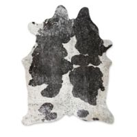 Natural Rugs Scotland Cowhide 6' x 7' Area Rug in Black