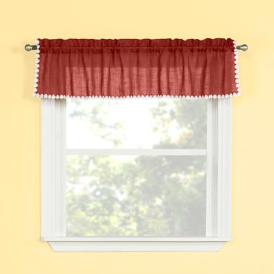 Andrea Kitchen Window Valance In Spice